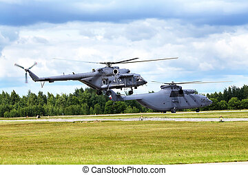 Transport helicopter s - Two modern russian transport...