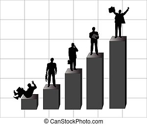 Businessperson - Silhouettes of business persons, officers,...