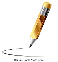 Graphite pencil - Vector illustration of a graphite pencil