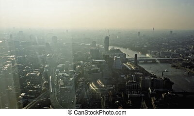 Aerial of London Cityscape - Londons highest and best viewis...