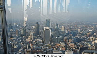 Aerial of London Cityscape