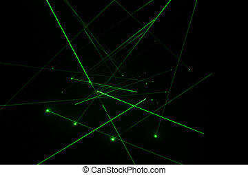 Digital laser line - Abstract of digital green light laser...