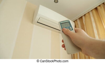 Turning on air conditioner