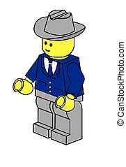 Lego businessman - Lego business man businessman, vector art...