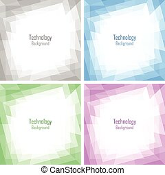 Set of Light Abstract Colorful Technology Frames,...