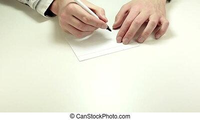 Short written advice Stop