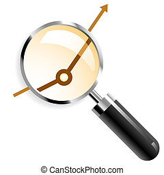 Magnifier - Vector illustration of a magnifier