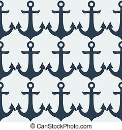 Nautical Anchor - Nautical blue metal anchor illustration...