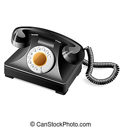 Old phone - Vector illustration on an old classic telephone
