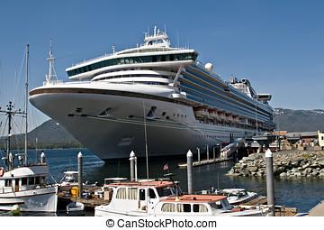 Cruise Ship in Port in Ketchikan,  Alaska