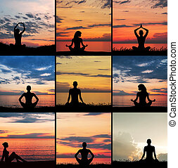 Zen, yoga and meditation Collection of different pictures