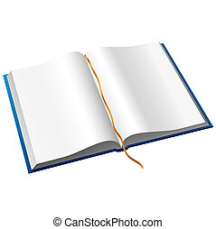 Open book - The vector illustration of open book