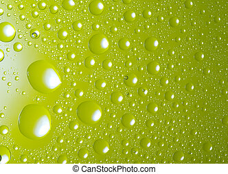 green water droplets background