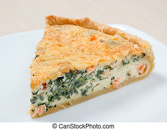 home pie with verdure and salmon - tasty home pie with...