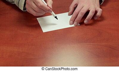 Short written advice Dollar sign - Adviser%u2019s hands...