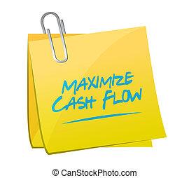 maximize cash flow memo post illustration
