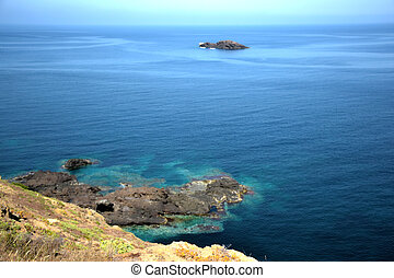 Sicily - Wonderful rocky coast of the island of Ustica -...
