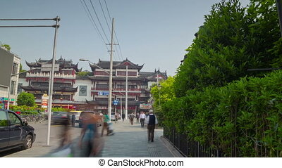 Way to Yuyuan Garden hyperlapse - Yuyuan Garden in Shanghai