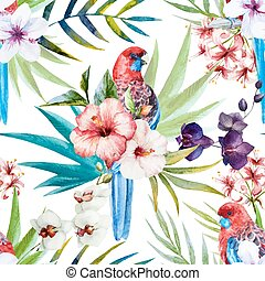 Rosella bird pattern - Beautiful vector pattern with nice...