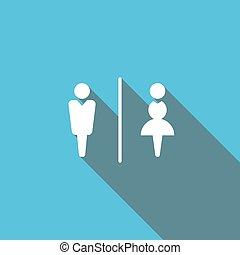 Restroom sign for your design EPS10