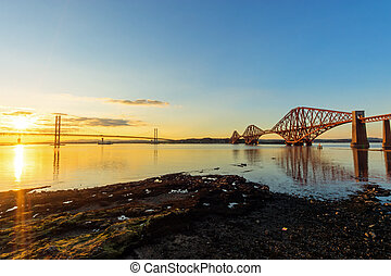 The bridges in South Queensferry - The two bridges over the...