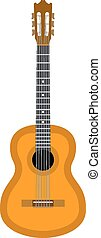 Guitar. Eps10 vector illustration. Isolated on white...
