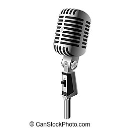Classic microphone - Vector illustration of a retro...