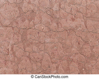 red-brown granite - large heavy dark red brown granite stone...