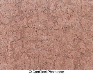 red-brown granite - large heavy dark red brown granite stone...