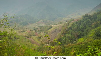 Rice terraces in Sa Pa slider timelapse 01 - Sa Pa, is a...