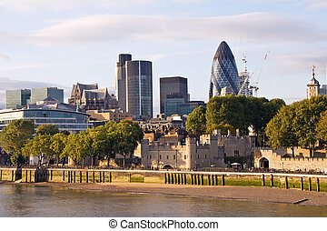Modern London cityscape London, UK