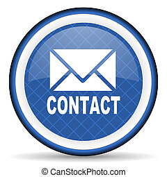 email blue icon contact sign