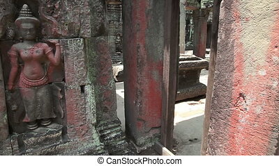 Ancient temple slider filming - Preah Khan temple in Angkor...
