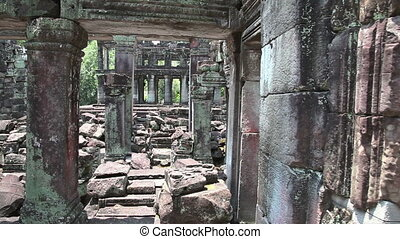 Ancient temple slider filming