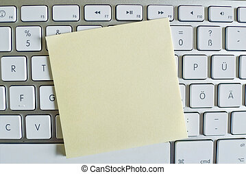 note on computer keyboard empty