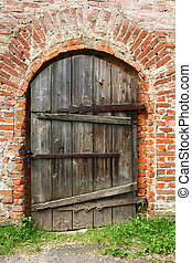 Ancient door - Ancient wooden barn door