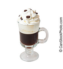 irish coffee solated on white - irish coffee isolated on...