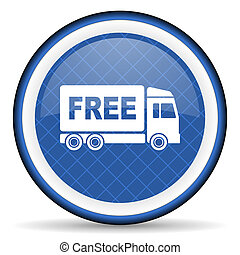 free delivery blue icon transport sign