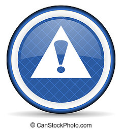 exclamation sign blue icon warning sign alert symbol