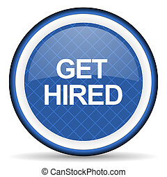 get hired blue icon