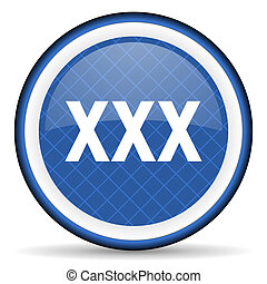 xxx blue icon porn sign