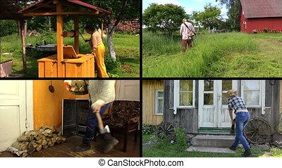 garden jobs collage