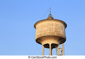 old water tower tank