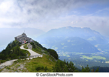 Eagles nest in the bavarian Alps near Berchtesgaden in...