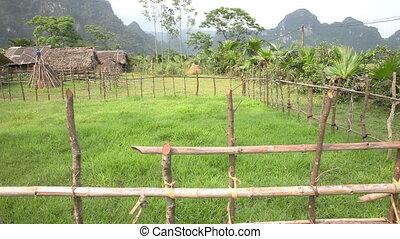 Vietnamese village slider shoot