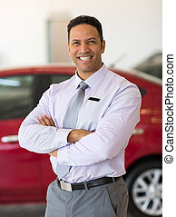 male car dealer principal - happy male car dealer principal...
