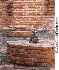 Buddha statue in Ubosot (Ordination Hall) at Wat Khudeedao, the