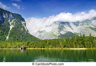 Lake in Germany - Famous lake Konikssee and a view at harbor...