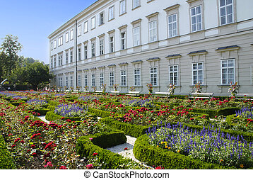 Mirabell palace with garden in Salzburg, Austria