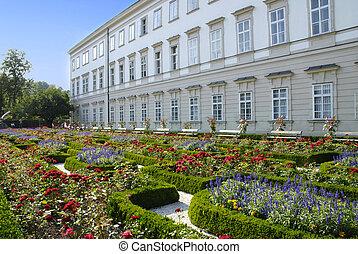 Mirabell palace with garden in Salzburg, Austria